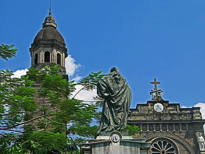 Manila Cathedral One Art Print by Pete Marchetto