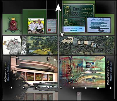 Digital Art - Manila Southwoods Golf Club P51 by Glenn Bautista