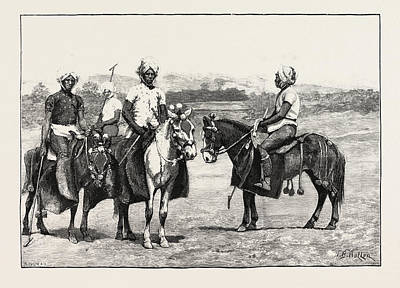 Manipuri Polo-players And Ponies Art Print