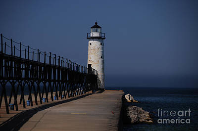 Photograph - Manistee Harbor Lighthouse by Ronald Grogan