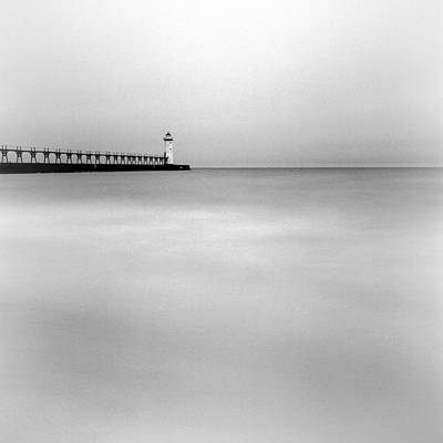 Photograph - Manistee Pierhead Light by Jeff Burton