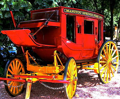 Photograph - Manitou Springs Stagecoach by Jeff Gater