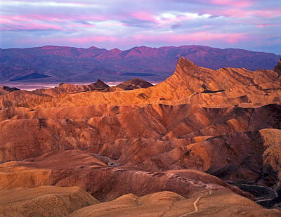 Manley Beacon From Zabriskie Point Art Print by Mike Norton