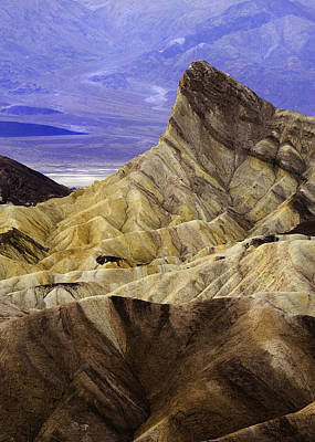 Death Valley Photograph - Manly Beacon Death Valley  by John Aydelotte