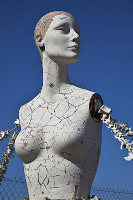 Mannequin Against Blue Sky Art Print by Garry Gay