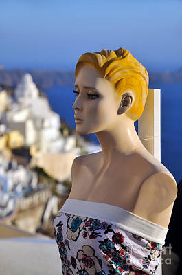 Photograph - Mannequin Doll In Santorini Island by George Atsametakis