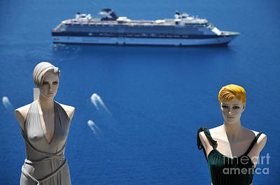 Photograph - Mannequin Dolls In Santorini Island by George Atsametakis