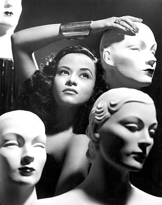 Mannequin Heads Art Print by Underwood Archives