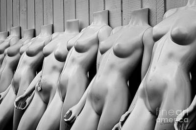 Digital Nudes Photograph - Mannequin Lineup by Dave Gordon