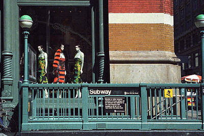 Photograph - Mannequins And The Subway by Cornelis Verwaal