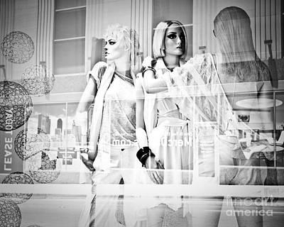 Mannequins In White Art Print by Sonja Quintero