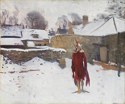Painting - Mannikin In The Snow by John Singer Sargent