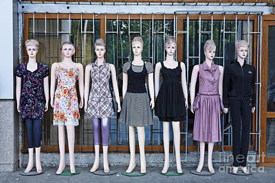Mannikins Photograph - Mannikins Outside A Clothes Shop In Bishkek Kyrgyzstan  by Robert Preston