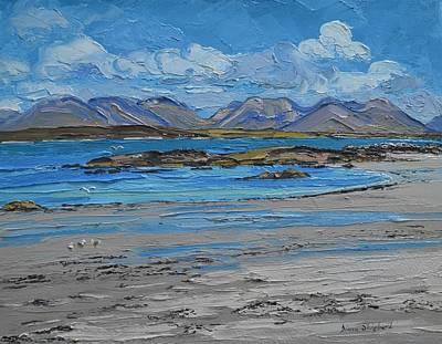 Mannin Bay Beach Ballyconneelly Connemara Art Print by Diana Shephard