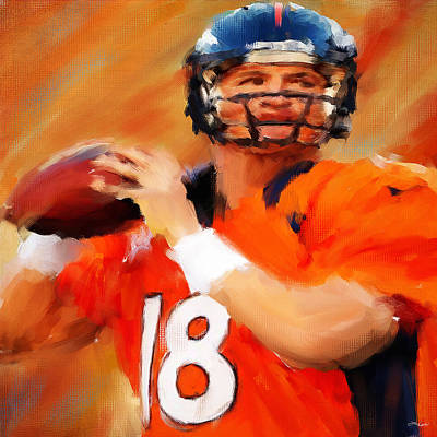 Collectible Sports Art Painting - Manning by Lourry Legarde