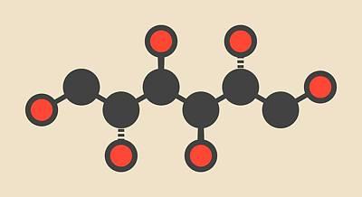 Mannitol Molecule Art Print by Molekuul