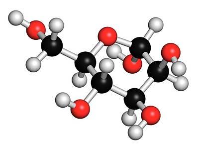 Mannose Sugar Molecule Print by Molekuul