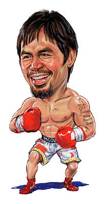 Comics Royalty Free Images - Manny Pacquiao Royalty-Free Image by Art