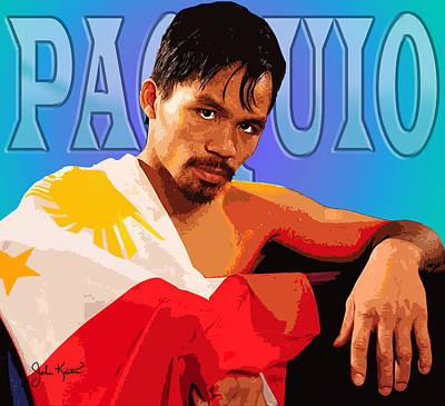 Manny Pacquio Art Print by John Keaton