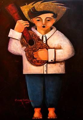 Painting - Manolito El Cuatrista 1942 by Oscar Ortiz