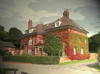 Manor House In Doveridge, Magnificent 19th Century Manor Art Print