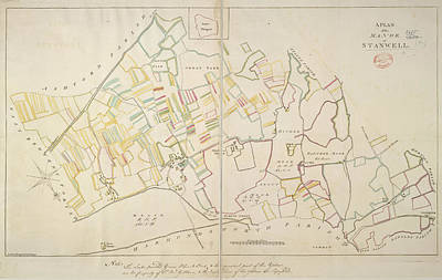 Cartography Photograph - Manor Of Stanwell by British Library