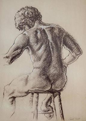 Man's Back Art Print by Sarah Parks