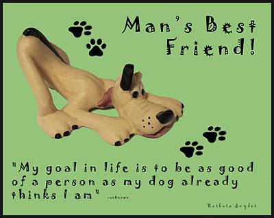 Puppies Digital Art - Mans Best Friend by Barbara Snyder