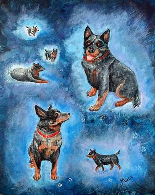 Blue Heeler Painting - Man's Best Friend by Joan Mace
