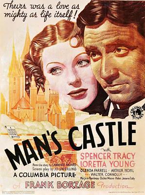 Mans Castle, L-r Loretta Young, Spencer Art Print by Everett