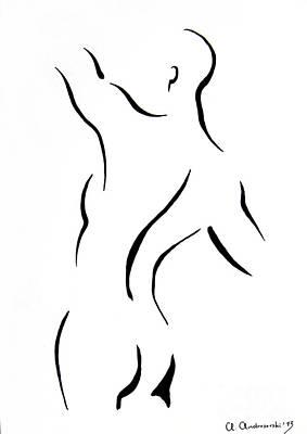 Man's Torse Art Print by Anna Androsovski