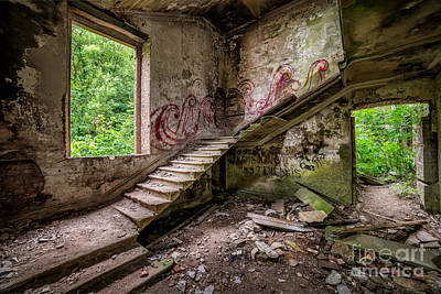 Stairs Digital Art - Mansion Graffiti by Adrian Evans