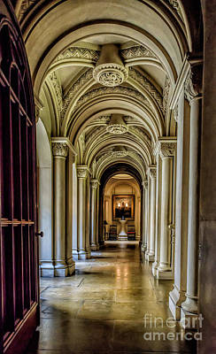 Mansion Hallway Art Print by Adrian Evans
