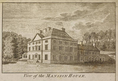 Part Of Photograph - Mansion House Of Close House Estate by British Library