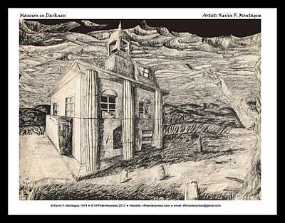 Digital Art - Mansion In Darkness by Kevin Montague