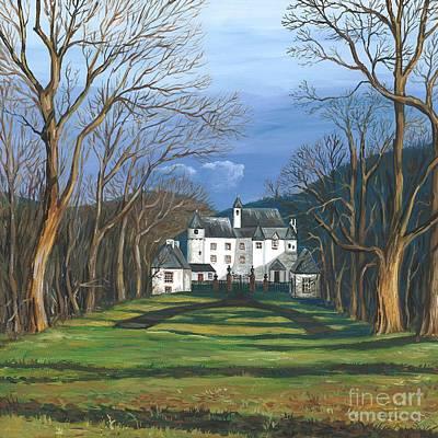 Mansion In The Woods Art Print by Margaryta Yermolayeva