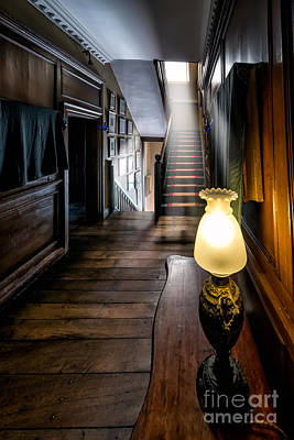 Stairs Digital Art - Mansion Lamp by Adrian Evans