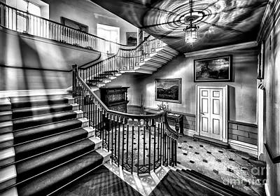 Stairs Digital Art - Mansion Stairway V2 by Adrian Evans