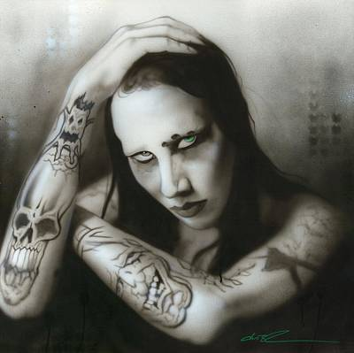 Popular Painting - Marilyn Manson - ' Manson IIi ' by Christian Chapman Art