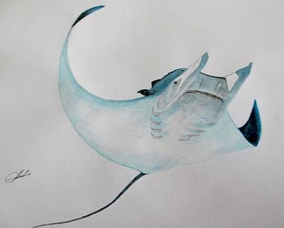 Devil Ray Painting - Manta-devil Ray by Jack  Bol
