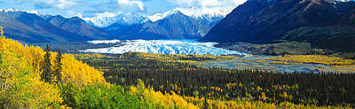 Mantanuska Glacier Ak Usa Art Print by Panoramic Images