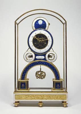 Mantel Clock Movement By Nicolas-alexandre Folin, French Art Print