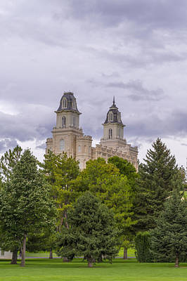 Photograph - Manti Temple by Dustin  LeFevre
