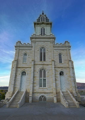 Photograph - Manti Temple East Side by David Andersen