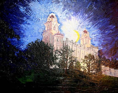 Painting - Manti Temple by Jane Autry