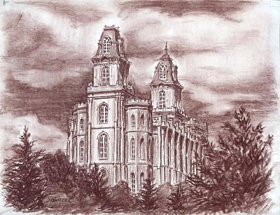 Manti Utah Lds Temple Art Print by Shalece Elynne