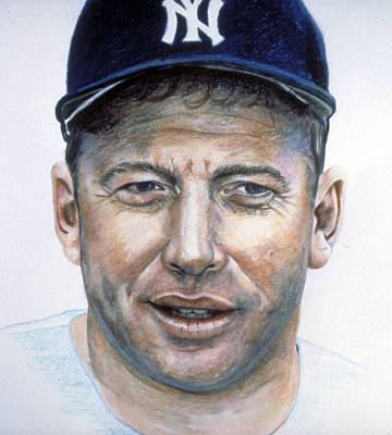 Mickey Mantle Drawing - Mantle I by Londie Benson