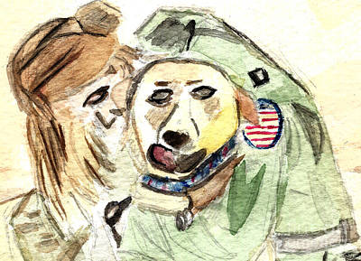 Iraq Painting - Welcome Home by Elizabeth Briggs