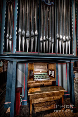 Photograph - Manual Pipe Organ by Adrian Evans