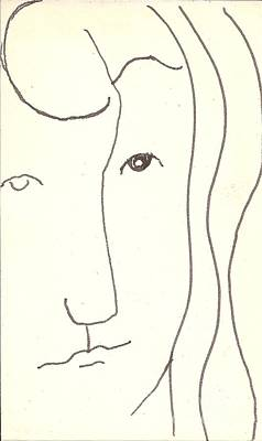 Drawing - Manwoman by Rod Ismay